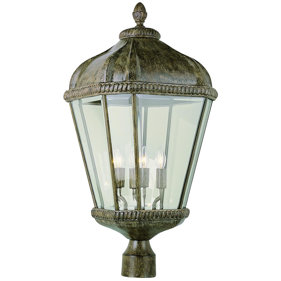 "Burnished Rust 26"" Post Top Lantern"