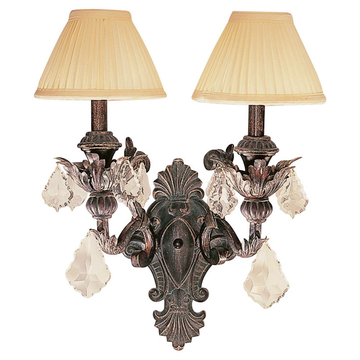 Trans Globe Lighting® Leafed Patina Double Wall Sconce