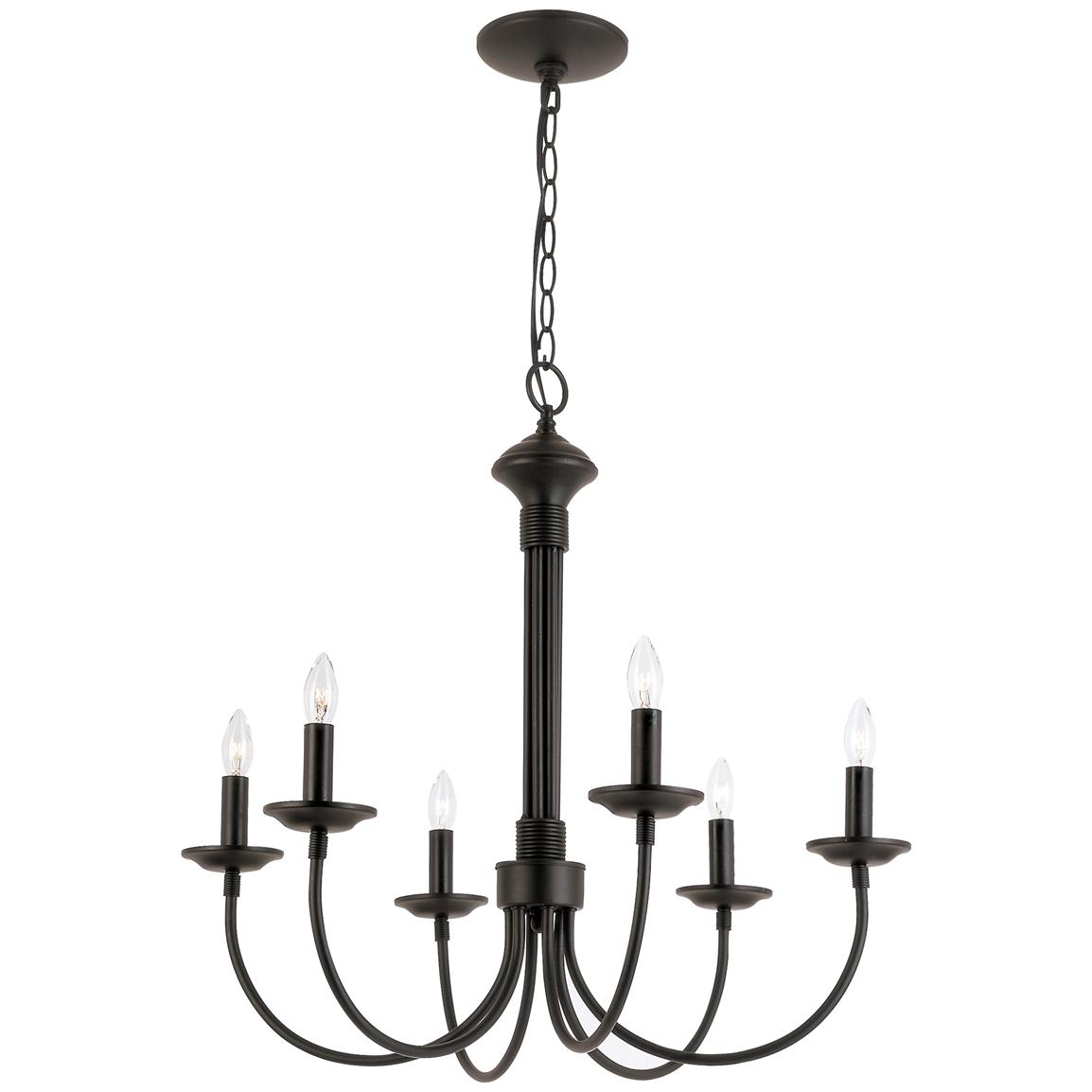 Trans Globe Lighting® Colonial Candles 6-light Chandelier, Black