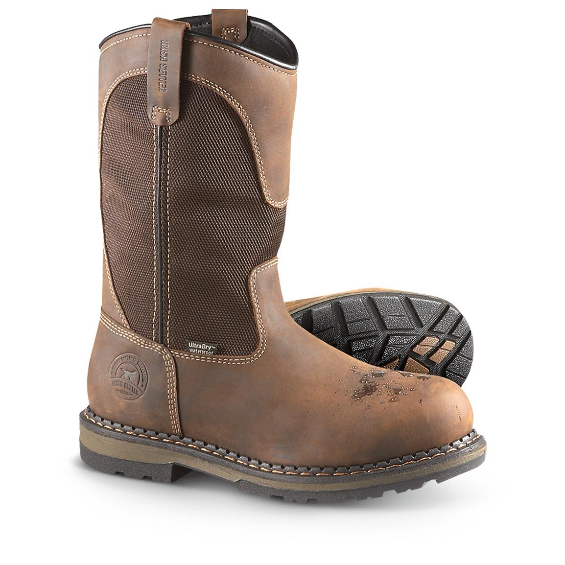 Men's Irish Setter® Waterproof Aluminum Toe Work Boots, Hazelnut Voyageur