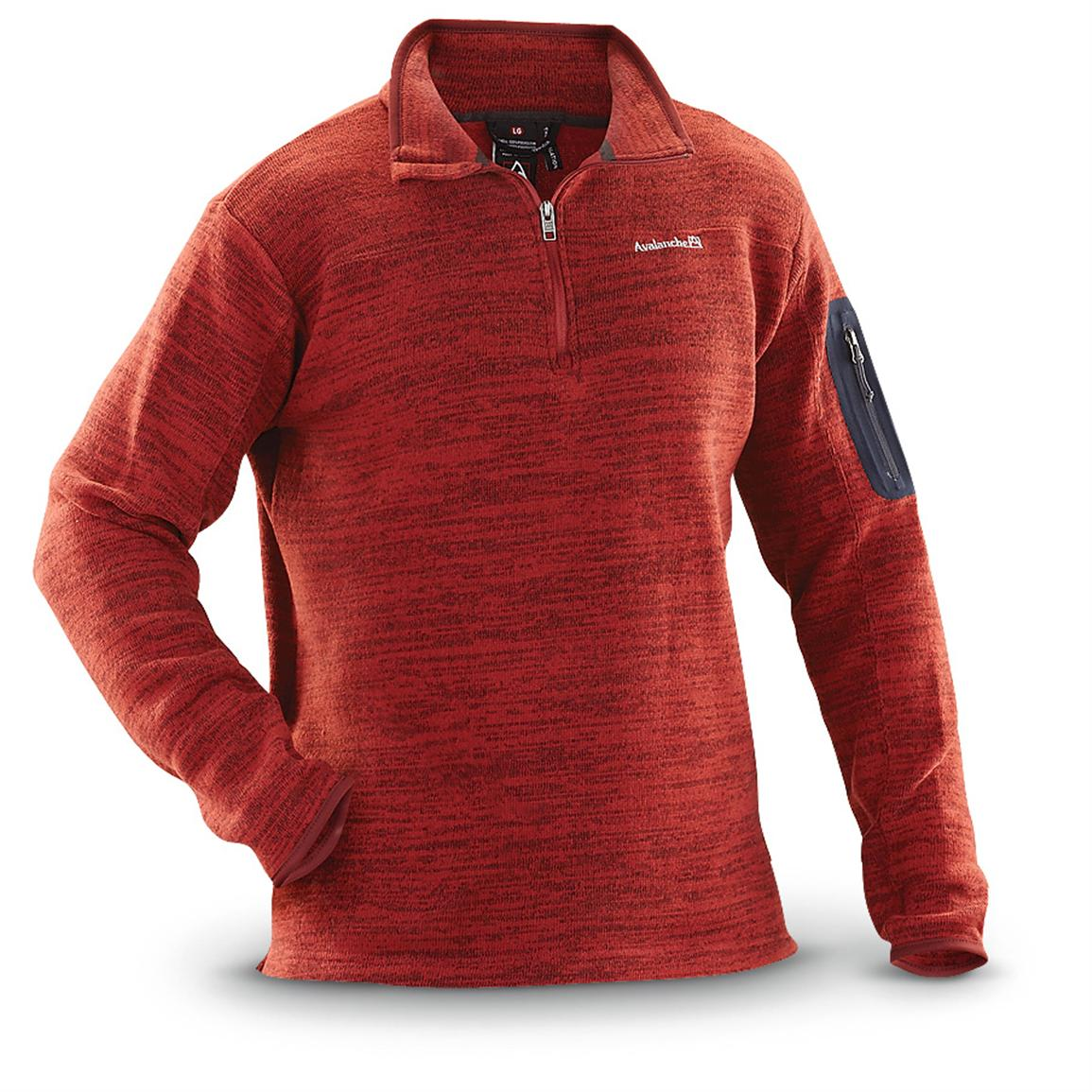 Red Rock® Avalanche Aura 1/4 - zip Pull - over Shirt, Ketchup / Dark Night
