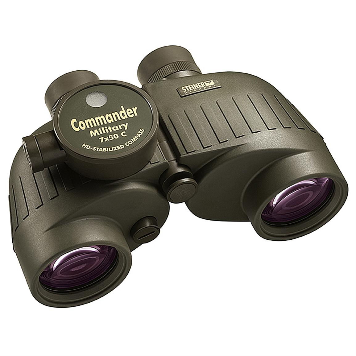 Steiner® 7x50mm Commander Military Binoculars with Compass