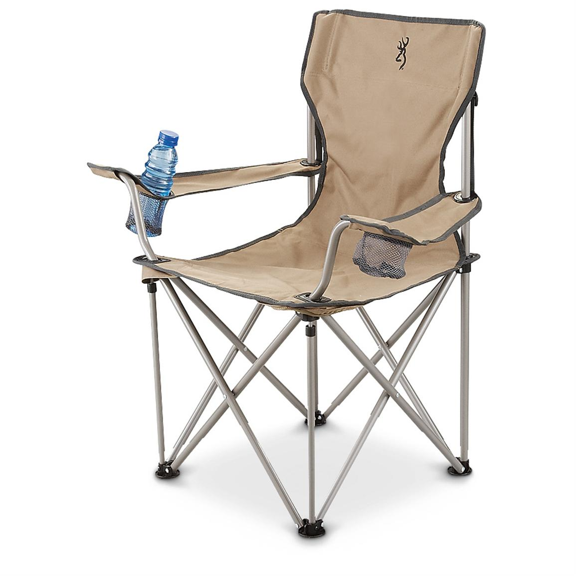 Browning® Bearclaw Foldable Chair, Khaki; 500-lb. capacity