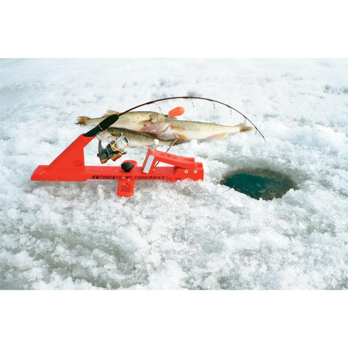 Automatic ice fisherman 25841 ice fishing tip ups at for Tip up fishing