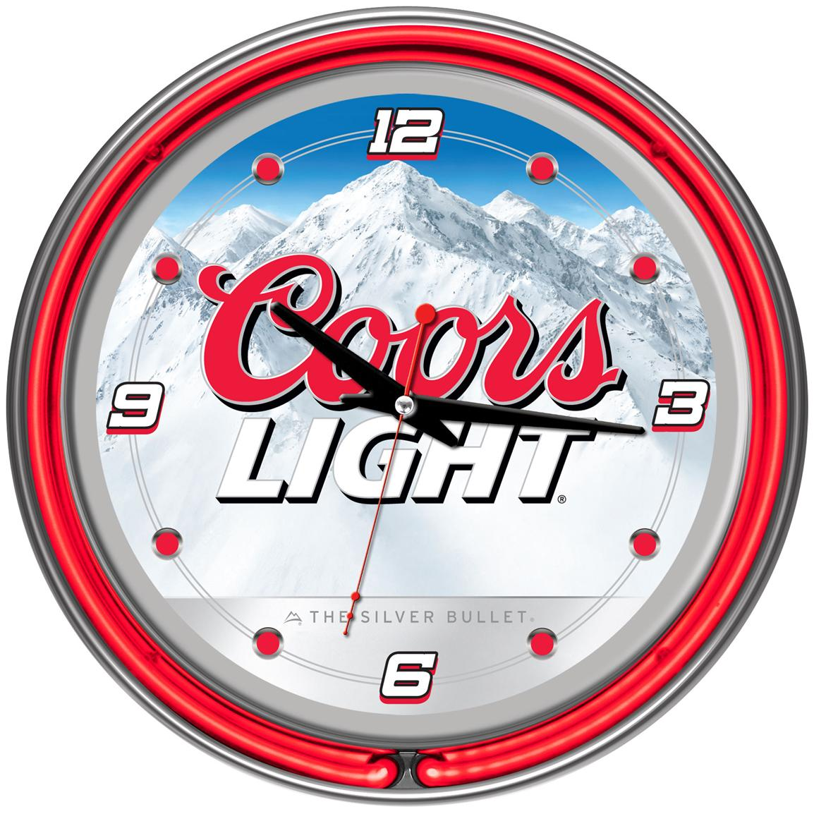 "Coors Light® 14"" Neon Wall Clock"