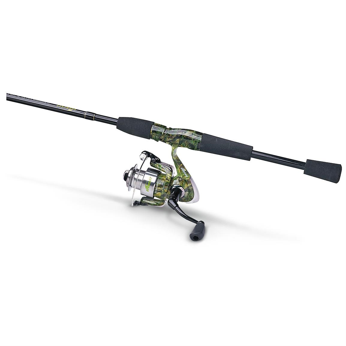 Evercast fishouflage 2 pc rod and reel combo 281515 for Fishing rod reel combo