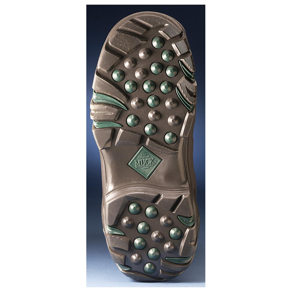 High-abrasion rubber outsole is long-wearing with sure traction