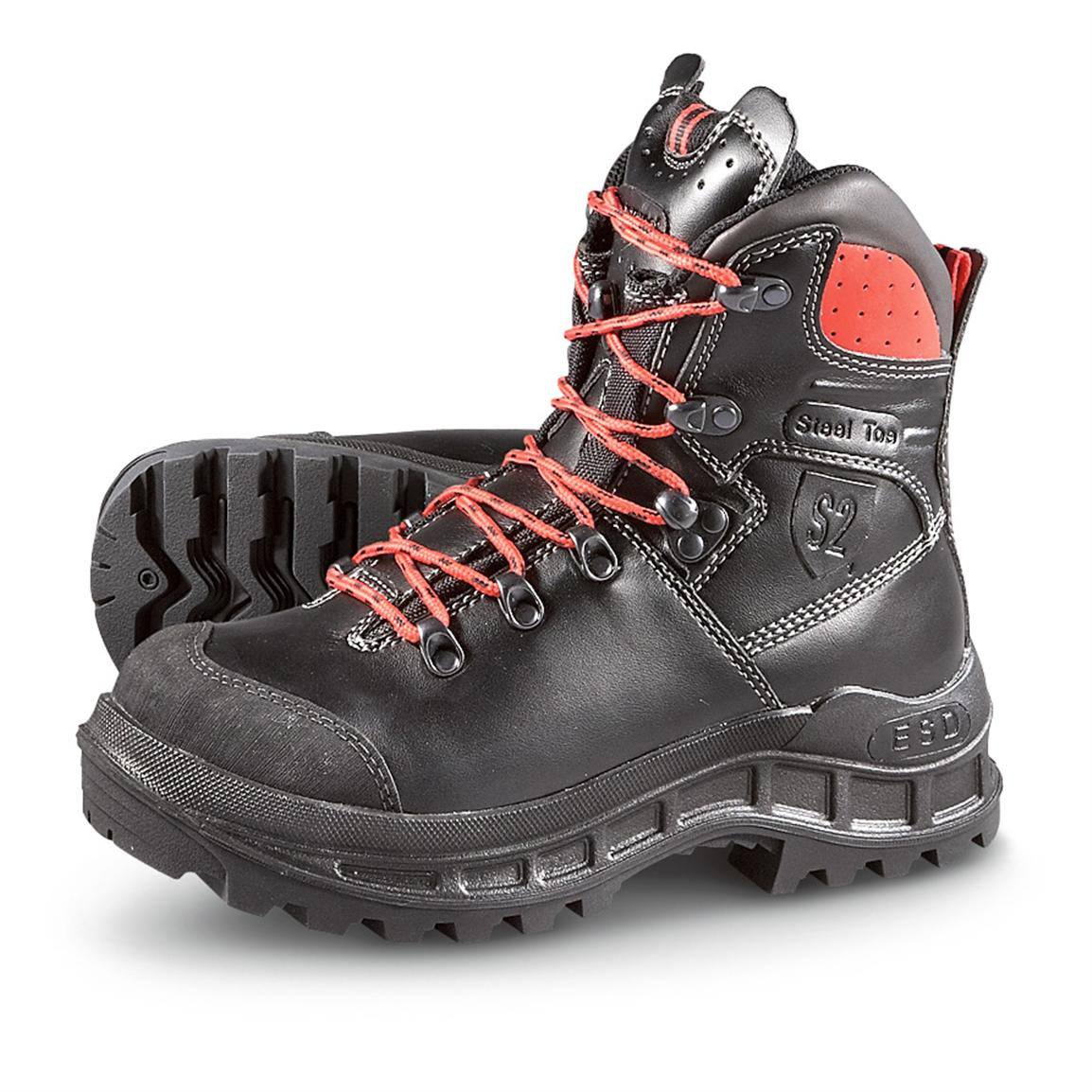 Men's S2 Forrester Waterproof Steel Toe Boots, Black - 281597 ...