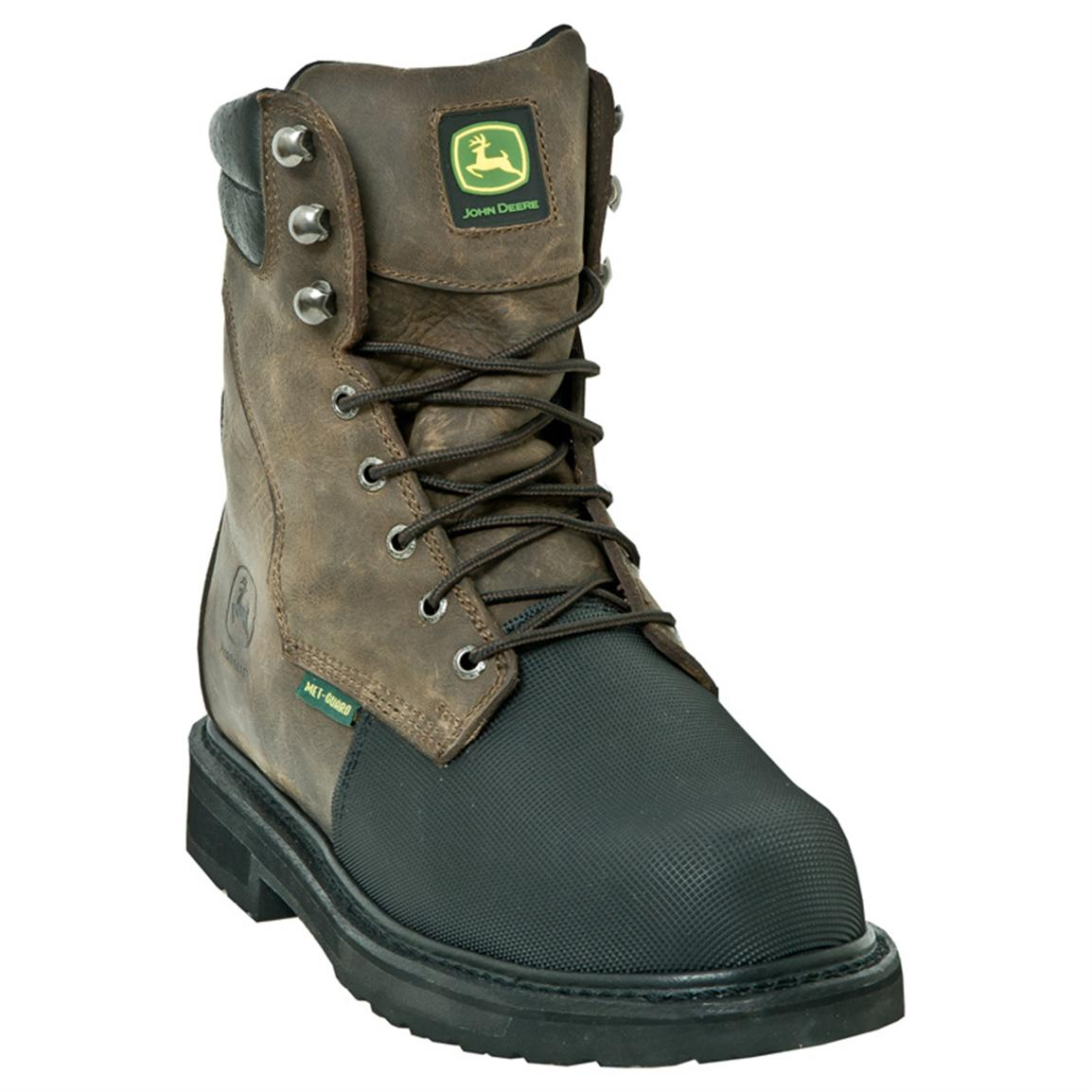 Men's John Deere® 8 inch Flame-resistant Met Guard Composite Toe Work Boots