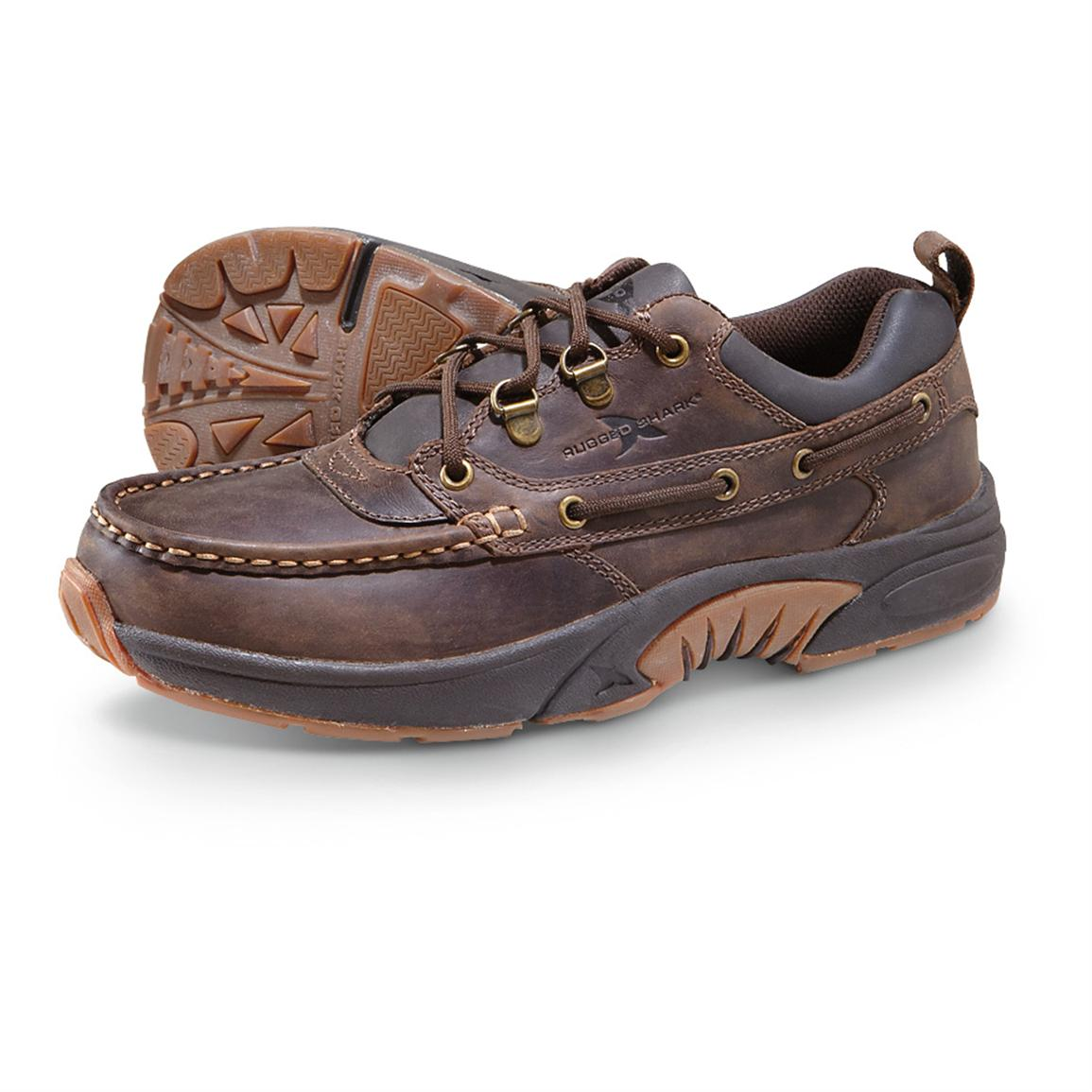 Men's Rugged Shark® Courier Low Shoes, Brown