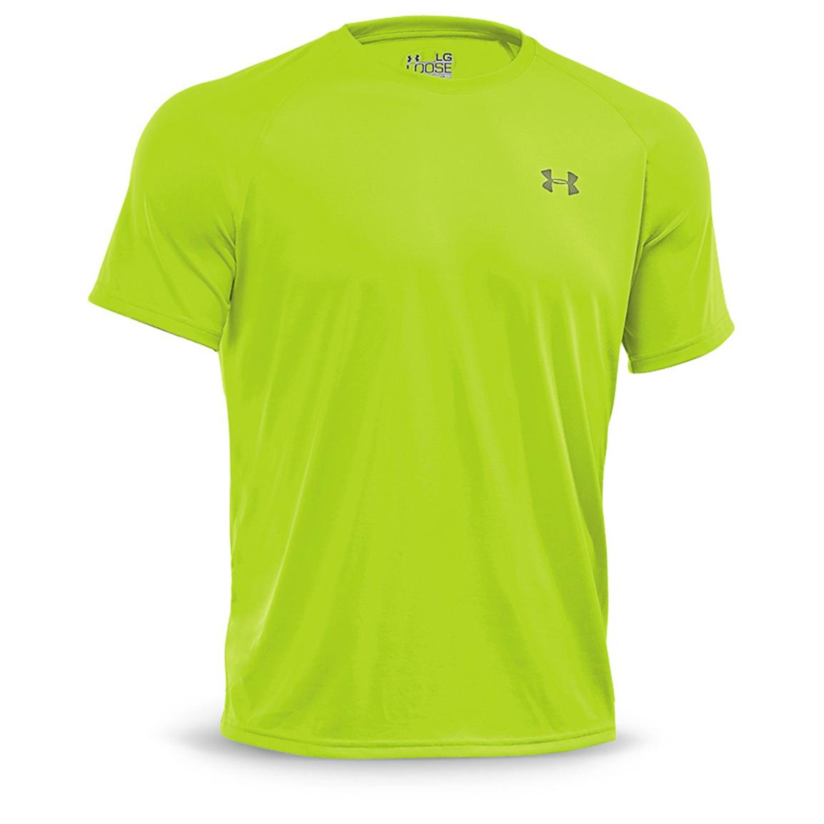 Under Armour Men's Tech Short-sleeved T-Shirt, Hi-vis Yellow / Storm
