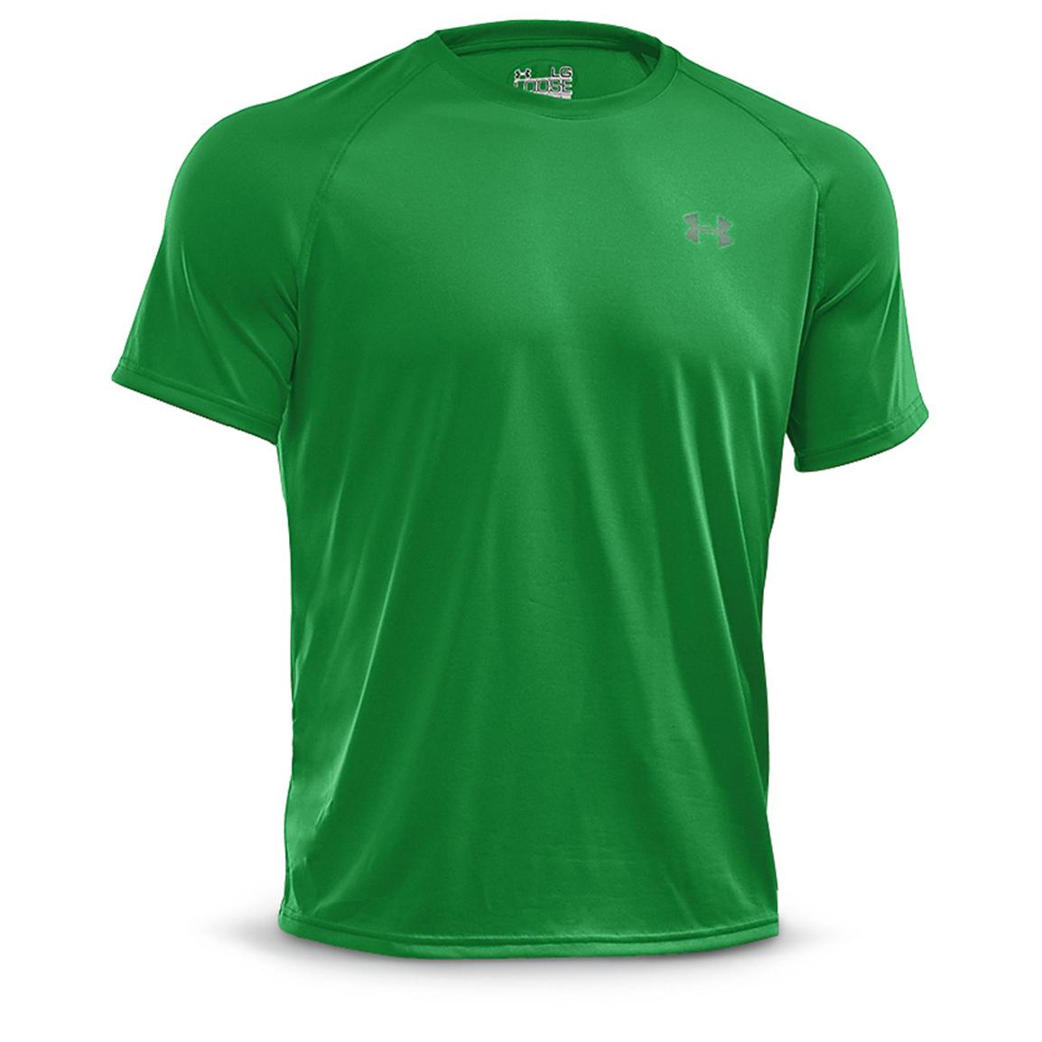 Under Armour Men's Tech Short-sleeved T-Shirt, Tree Frog / Storm