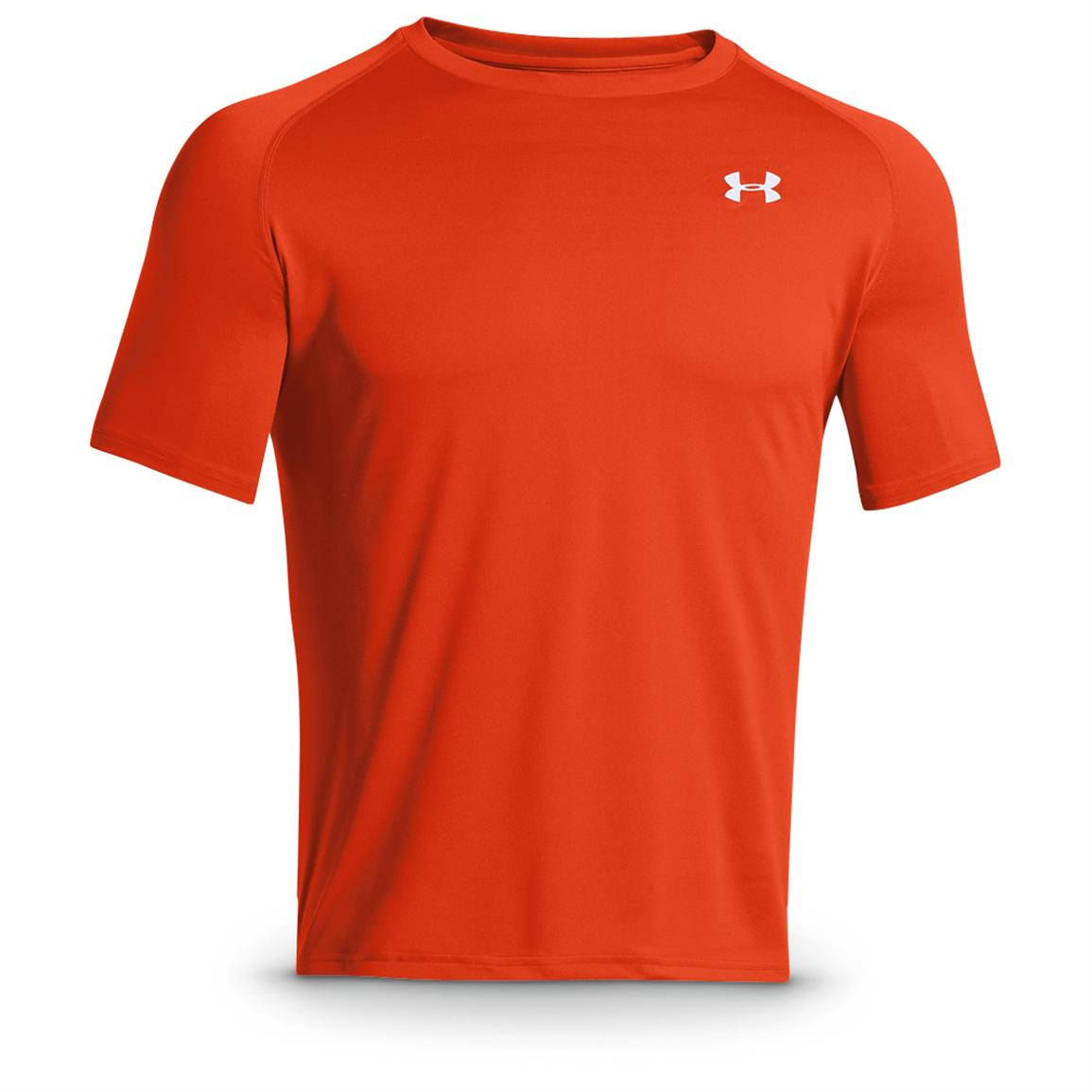 Under Armour Men's Tech Short-sleeved T-Shirt, Dark Orange