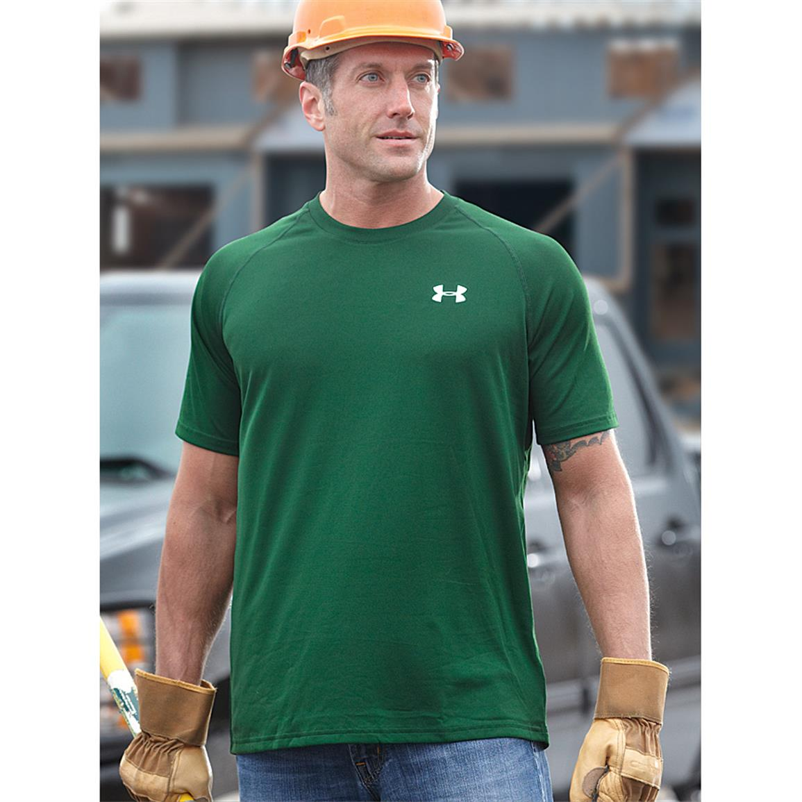 Under Armour Men's Tech Short-sleeved T-Shirt, Forest Green