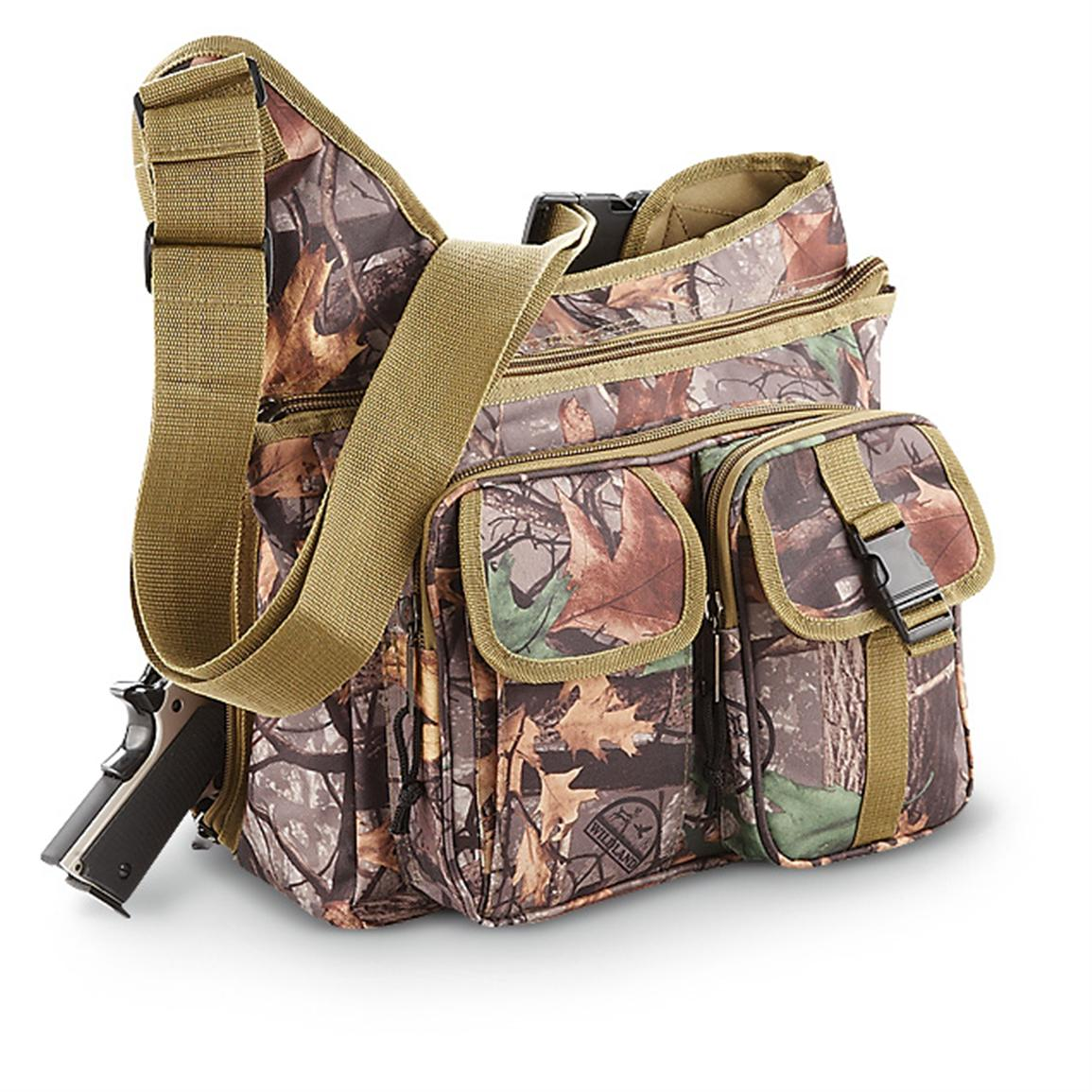 Concealed Carry Shoulder Sling Bag, Camo
