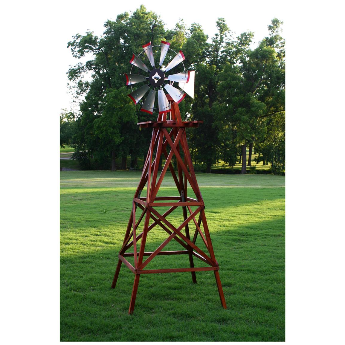 Outdoor Water Solutions® 10' Wood Backyard Windmill