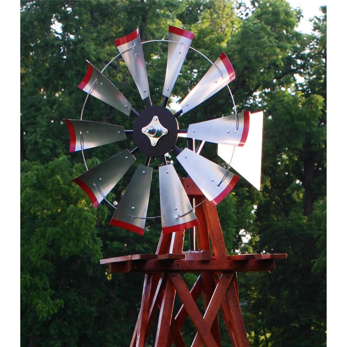 Outdoor Water Solutions 174 10 Wood Backyard Windmill