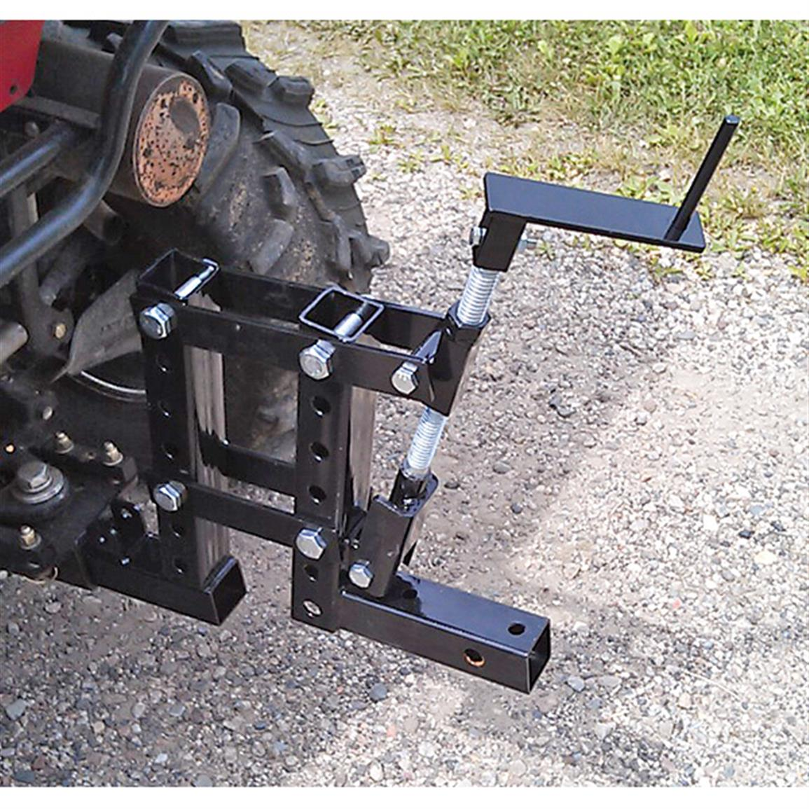 Hand crank allows for 10 inches of adjustment