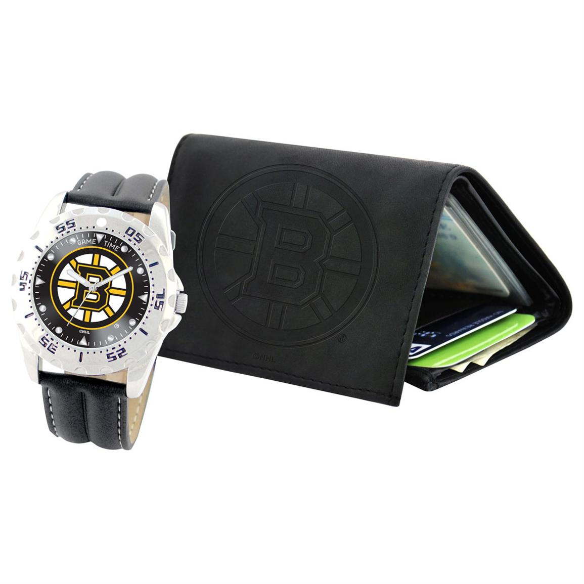 Game Time NHL Watch and Wallet Combo, Boston Bruins