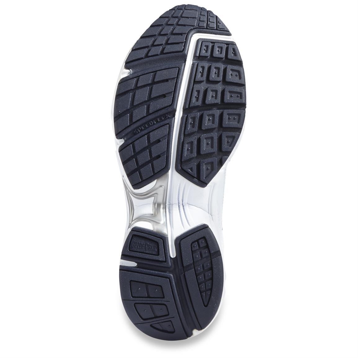 Shock-absorbing midsole provides comfort