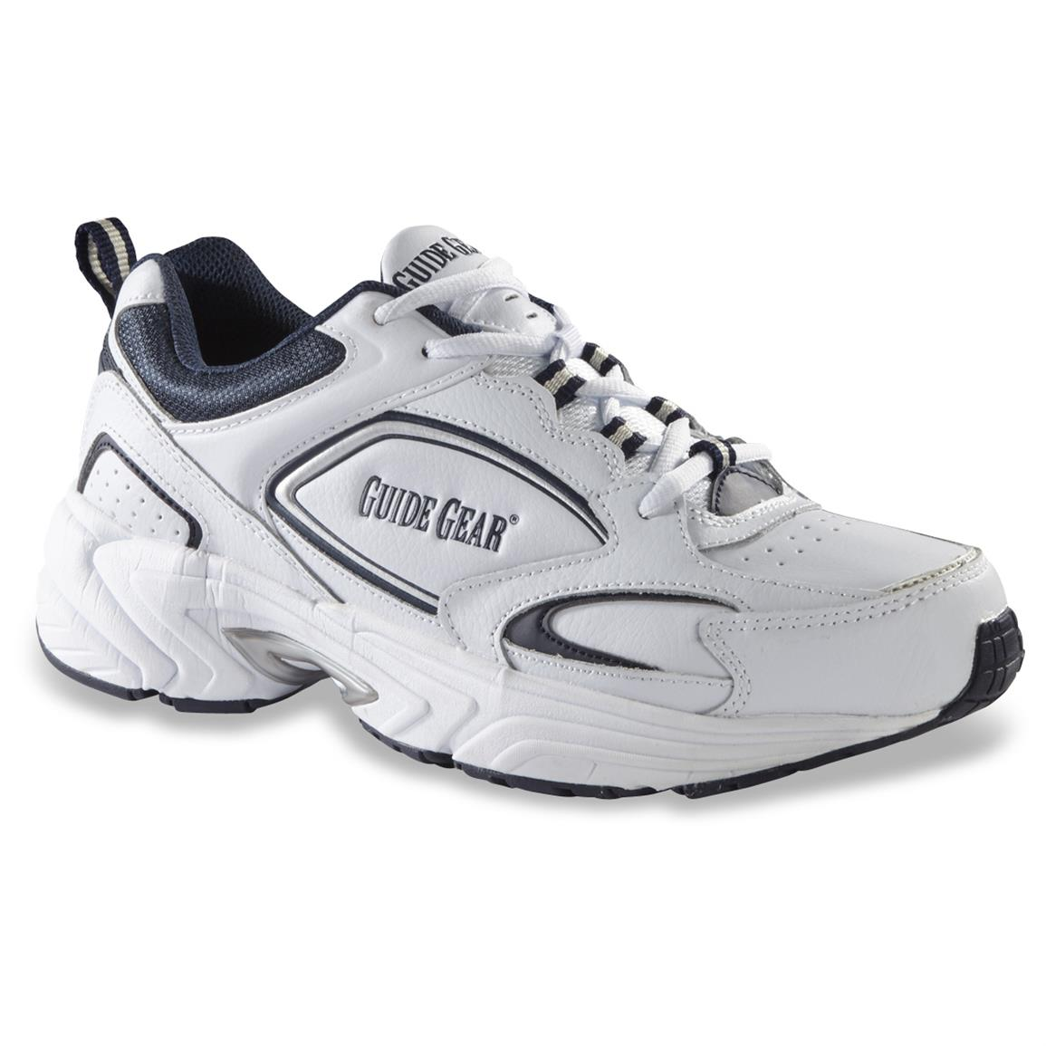 Guide Gear Men's Lace-Up Walking Shoes, White / Navy