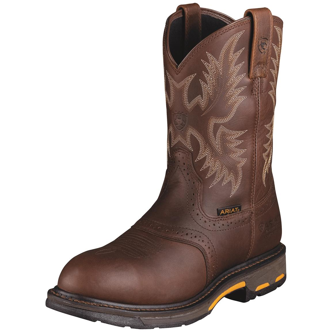 Ariat Men's WorkHog H2O Waterproof Composite Toe Western Work Boots