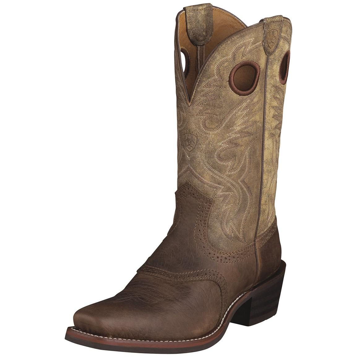 Men's Ariat® 12 inch Heritage Roughstock Cowboy Boots, Brown