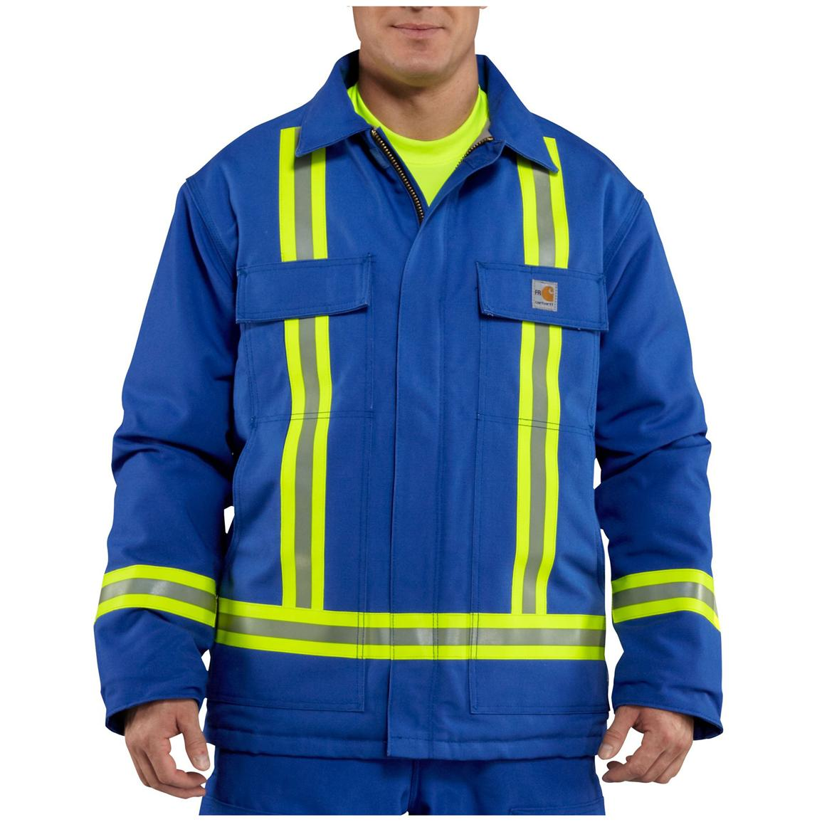 Men's Carhartt® Flame-resistant Traditional Insulated Duck Jacket with Reflective Stripes