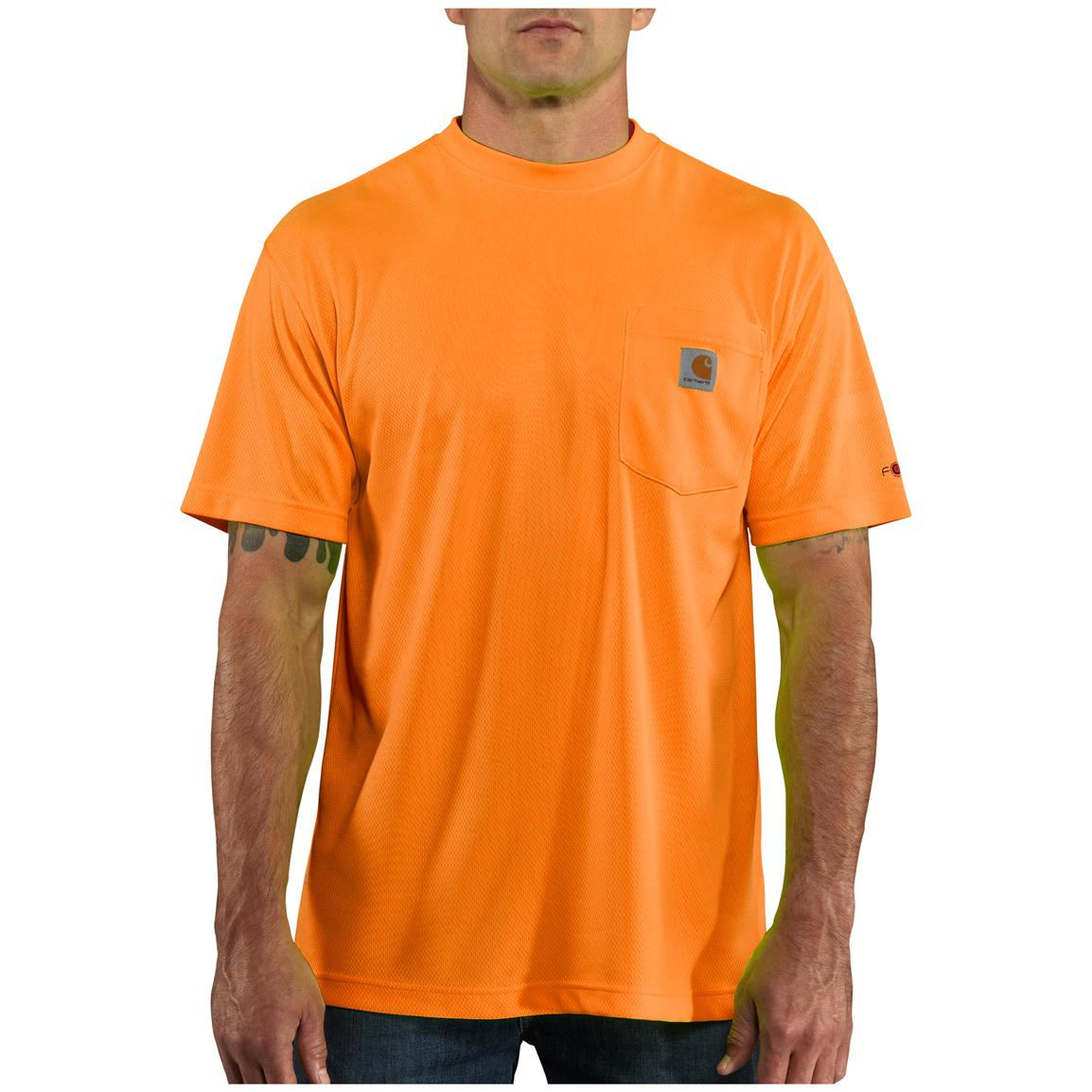 Men's Carhartt® Force™ High-visibility T-shirt, Brite Orange