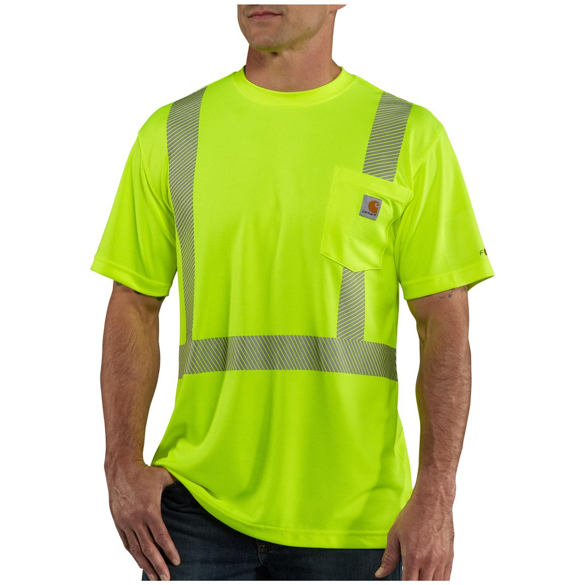 Men's Carhartt® Force™ Class 2 High-visibility T-shirt, Brite Lime