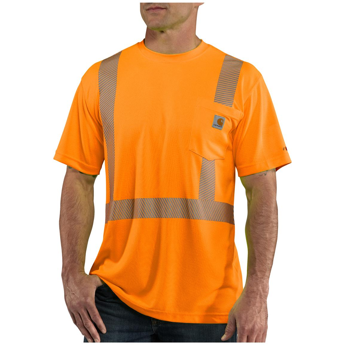 Men's Carhartt® Force™ Class 2 High-visibility T-shirt, Brite Orange