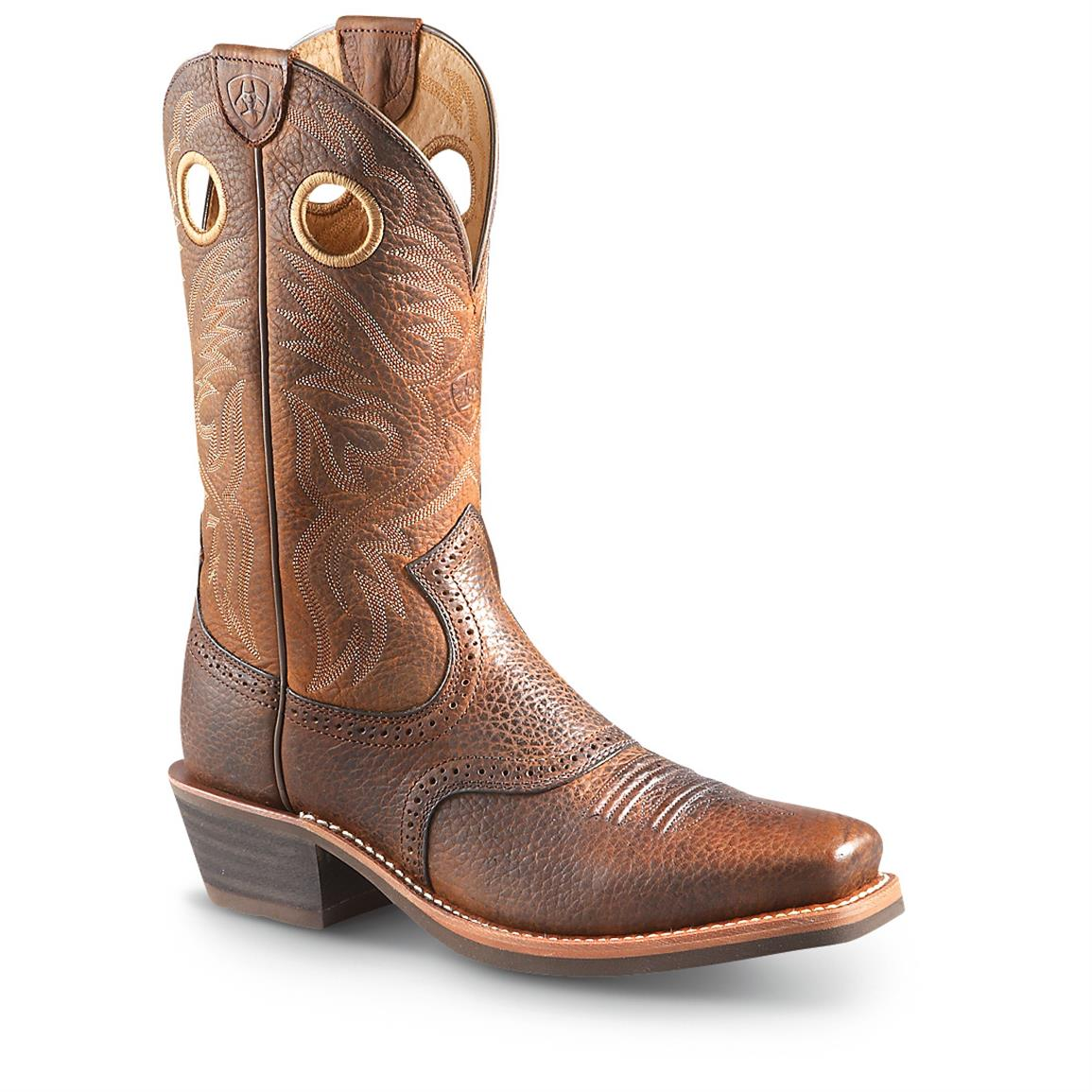Ariat Men's Roughstock Cowboy Boots, Brown Oiled Rowdy
