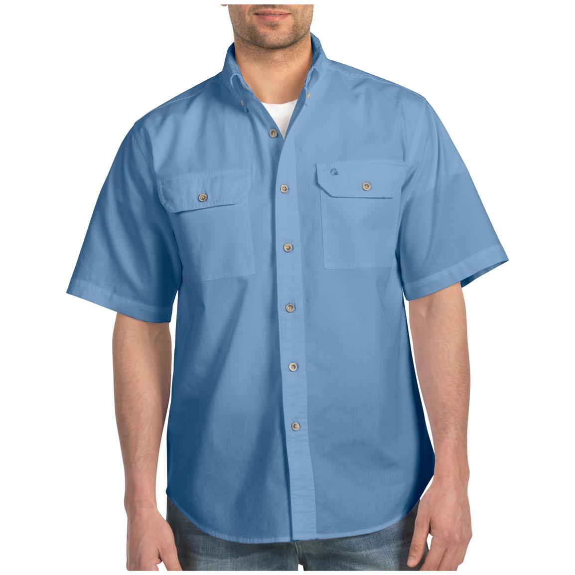 Men's Carhartt® Short-sleeve Chambray Work Shirt, Blue