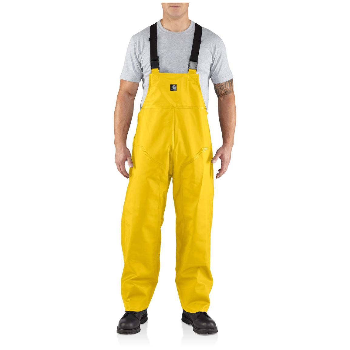 Men's Carhartt® Surrey Rain Bib Overalls, Yellow