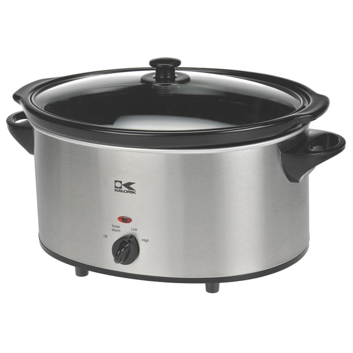 6-qt. Slow Cooker from Kalorik®, Stainless Steel