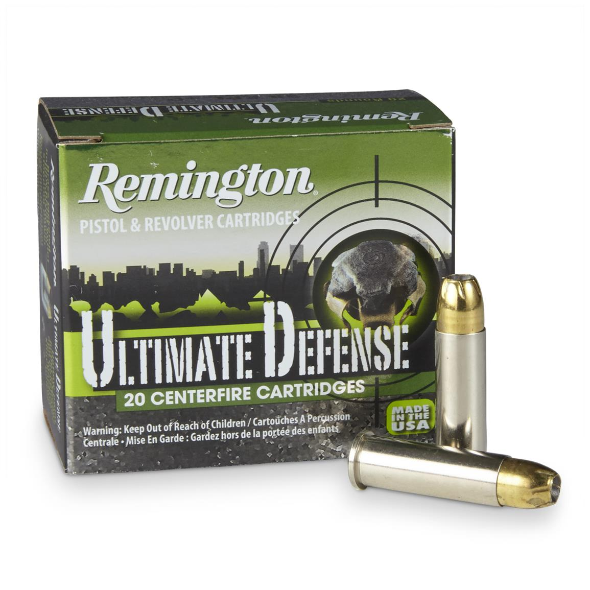 Remington, HD Ultimate Defense, .38 Special+P, BJHP, 125 Grain, 20 Rounds