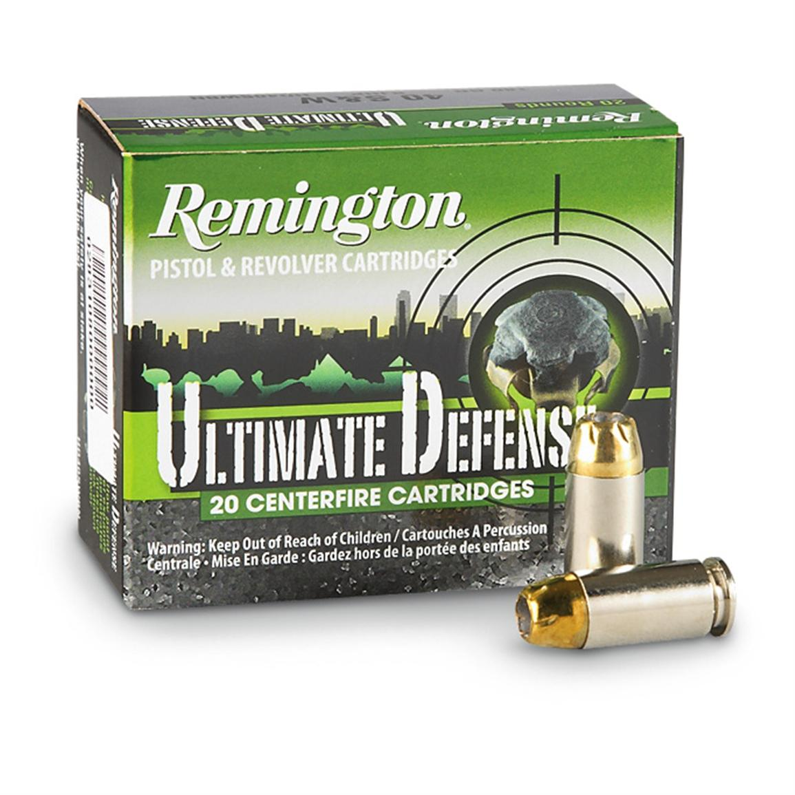 Remington HD Ultimate Defense, 9mm Luger, BJHP, 124 Grain, 20 Rounds