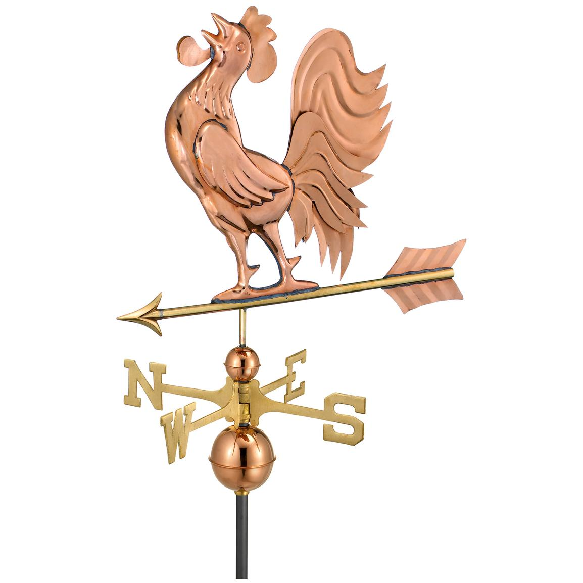 Crowing Rooster Weathervane, 25x18 inch h.