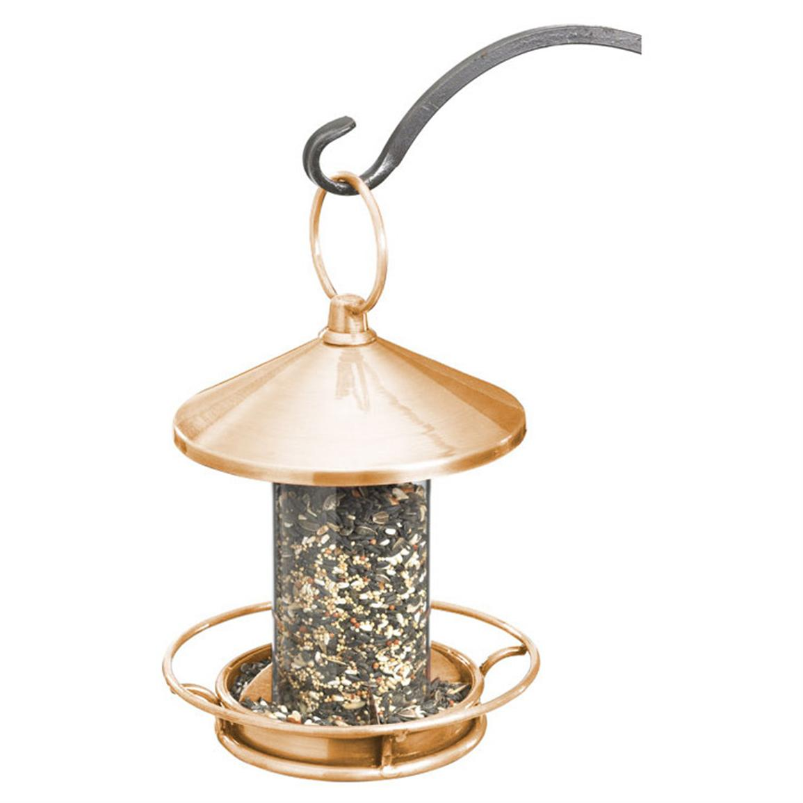 Good Directions Classic Perch Bird Feeder, Polished Copper