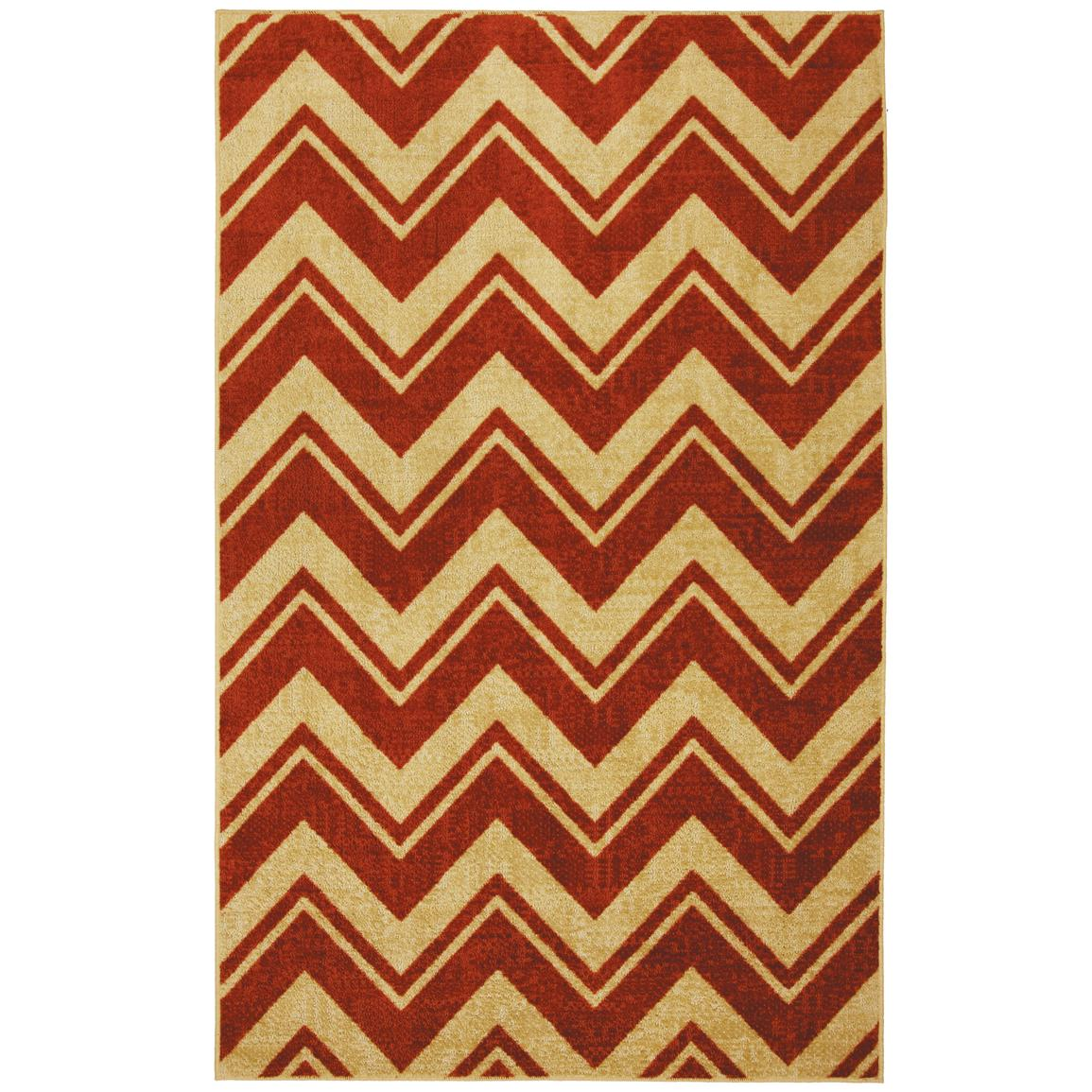 Mohawk Home® 5x8 foot Lascala Collection Area Rug, Rust