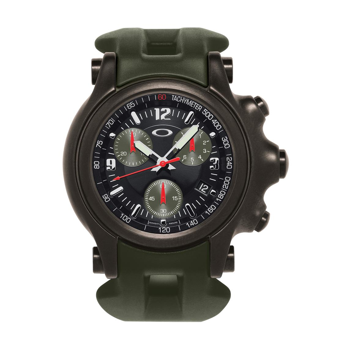 Oakley world war ii 10th mountain division chronograph watch olive black 283848 watches for Mountain watches