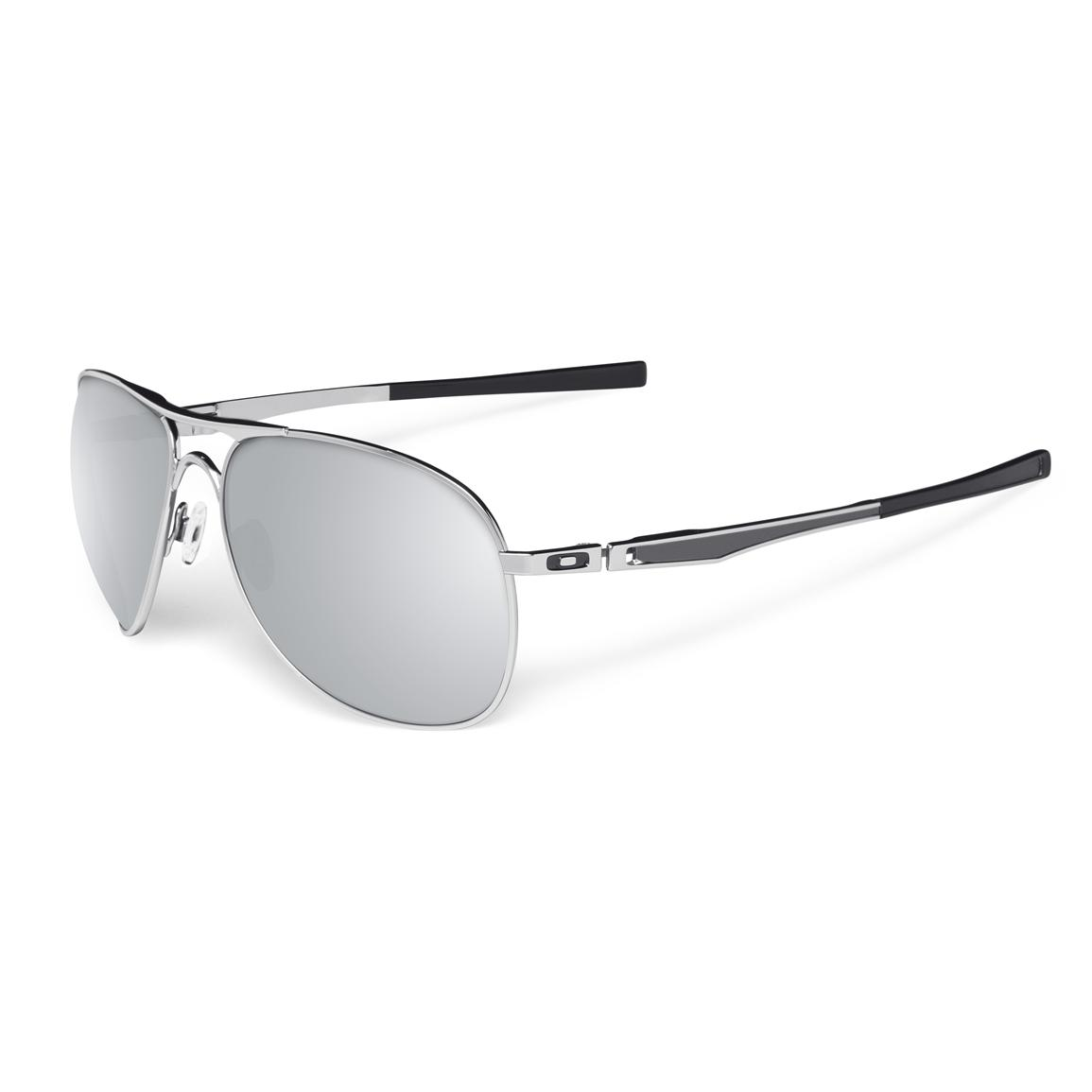 oakley plaintiff metal frame sunglasses chrome