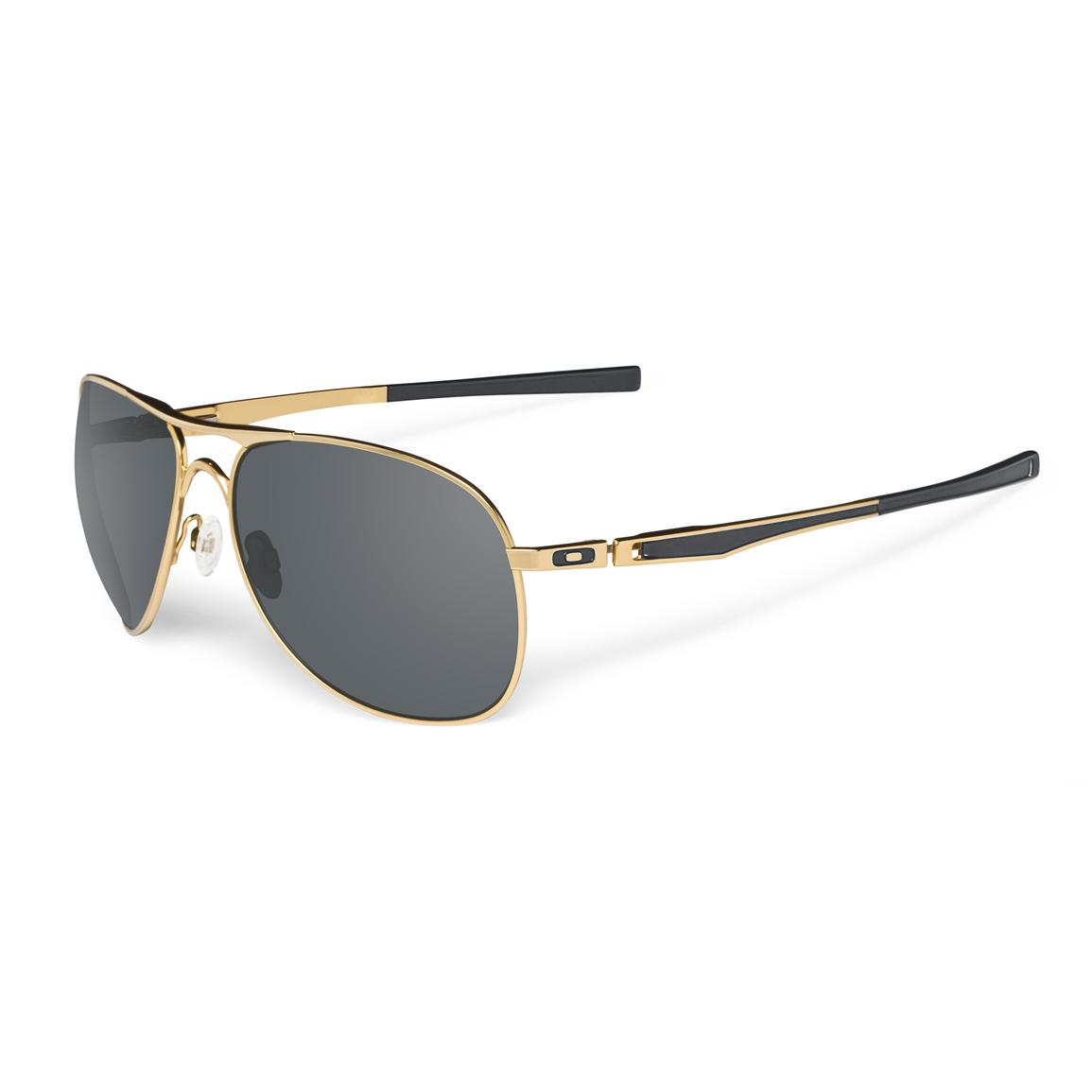oakley plaintiff metal frame sunglasses gold