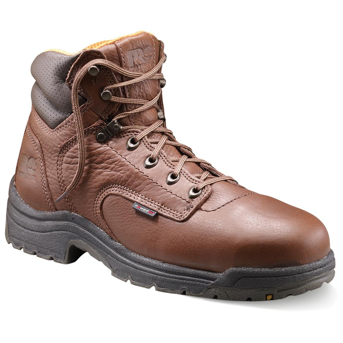 "Men's 6"" Timberland Pro® TiTAN Safety Toe Boots, Coffee"