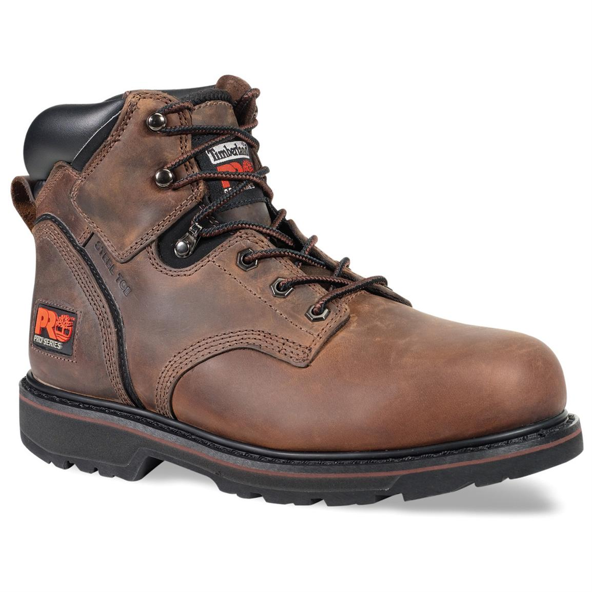Men's 6 inch Timberland Pro® Pit Boss Steel Toe Boots, Gaucho