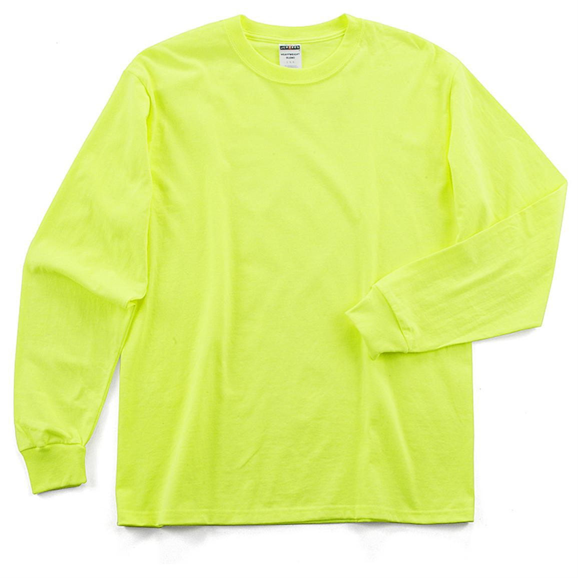 3 Pk Of Jerzees Long Sleeved High Visibility Safety