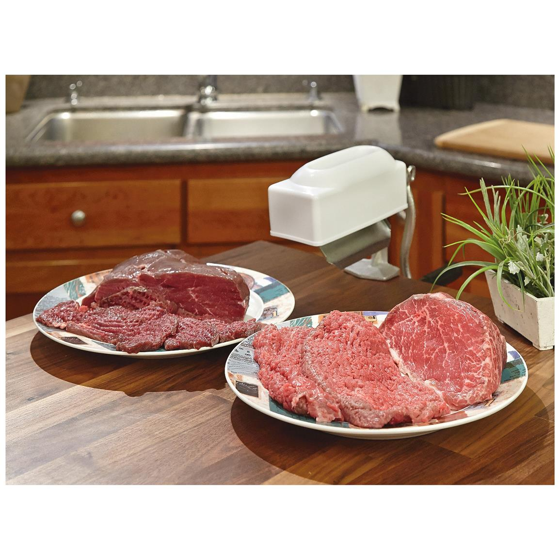 With this unit you can make those bargain-bin steaks melt-in-your-mouth tender