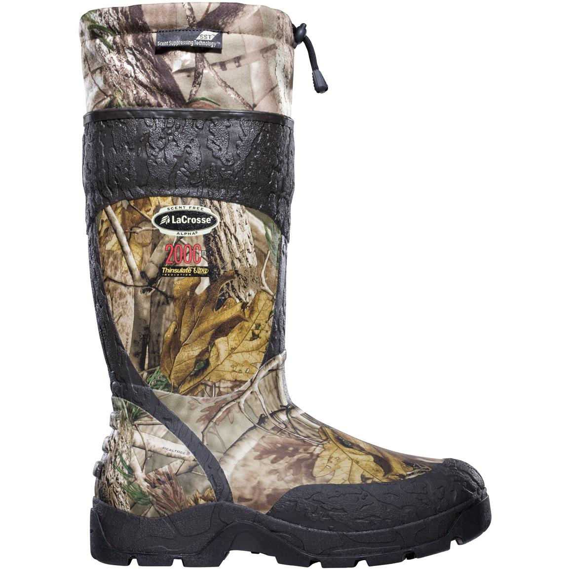 "Men's LaCrosse® 18"" Alpha SST™ 2,000 gram Thinsulate™ Ultra Insulation Waterproof Hunting Boots, Realtree® AP HD™"
