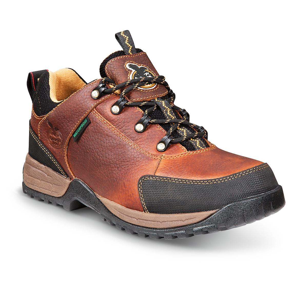 Men's Georgia Boot® Riverdale Low Hiking Shoes, Brown