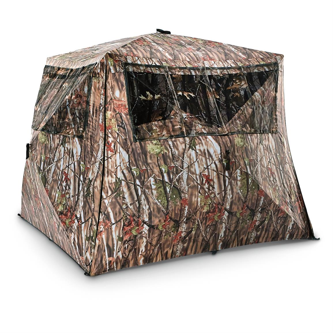 Guide Gear Camo Flare Out 5-Hub Ground Blind • Bottom flares out for 30% more room